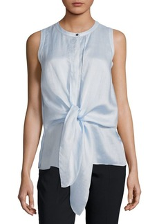 Knot Sleeveless Blouse