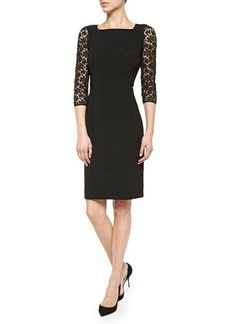 Lafayette 148 New York Kriya Lace-Sleeve Sheath Dress