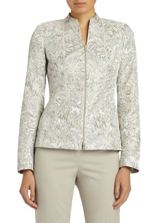 Lafayette 148 New York Kyla Bloom Jacquard Jacket