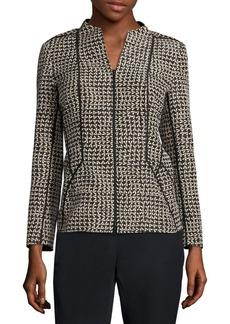 Lafayette 148 New York Kyla Geometric Zip-Front Jacket