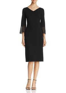 Lafayette 148 New York Lace Cuff Sheath Dress