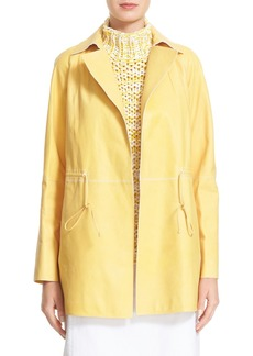 Lafayette 148 New York Lance Leather Trench Coat