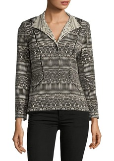 Lafayette 148 Laryn Long-Sleeve Printed Jacket