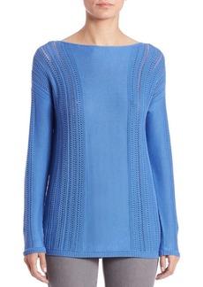 Lafayette 148 New York Lattice-Stitch Sweater