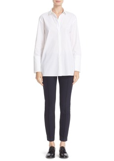 Lafayette 148 New York 'Lauren' Stretch Cotton Shirt