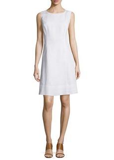 Lafayette 148 New York Laurette Sleeveless Linen A-Line Dress