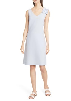 Lafayette 148 New York Laurie Ruffle Detail Dress