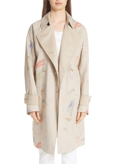 Lafayette 148 New York Laurita Linen Trench Coat