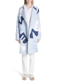Lafayette 148 New York Laurita Sartorial Stripe Print Coat