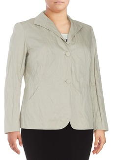 Lafayette 148 New York Laverna Solid Long-Sleeve Jacket