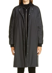 Lafayette 148 New York Lawrence Down Coat with Knit Collar