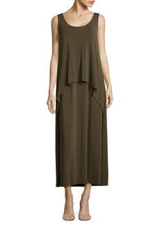 Lafayette 148 New York Layered Crepe Jersey Maxi Dress