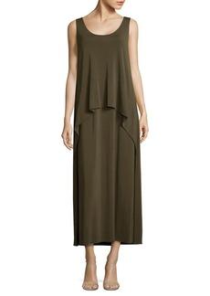 Lafayette 148 New York Layered Crepe Maxi Dress