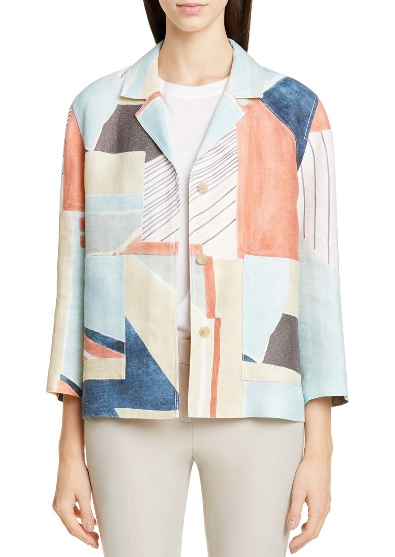 Lafayette 148 New York Layken Linen Jacket