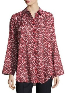Lafayette 148 New York Leanne Floral-Print Blouse
