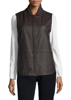 Lafayette 148 New York Leather Kaelyn Vest