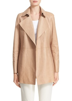Lafayette 148 New York Leather Trench