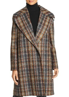 Lafayette 148 New York Lebell Plaid Coat