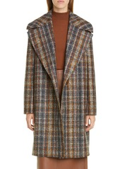 Lafayette 148 New York Lebell Plaid Coat