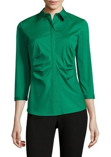 Lafayette 148 New York Leigh Ruched Blouse