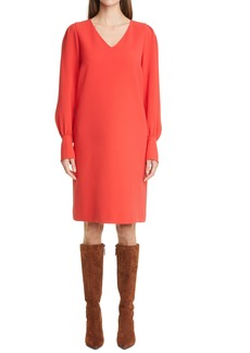 Lafayette 148 New York Lenore Long Sleeve Finesse Crepe Shift Dress