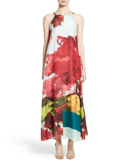 Lafayette 148 New York Leonissa Print Silk Maxi Dress