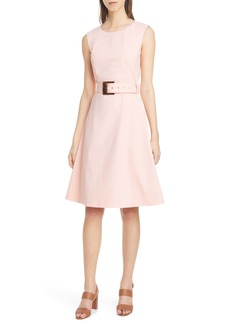 Lafayette 148 New York Leslie Belted A-Line Dress