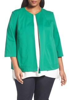 Lafayette 148 New York Levine Cotton Blend Jacket (Plus Size)