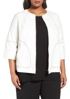 Lafayette 148 New York Levine Leather Jacket (Plus Size)