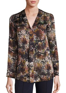 Lafayette 148 New York Libby Silk Twilight Terrace Blouse