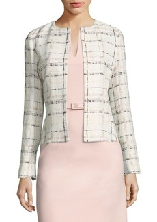 Lafayette 148 New York Linda Stitch-Design Short Jacket