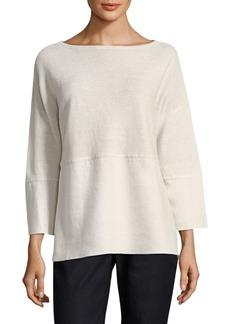 Lafayette 148 Linen Combo Sweater