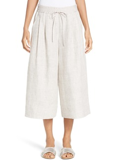 Lafayette 148 New York Pleated Linen Culottes