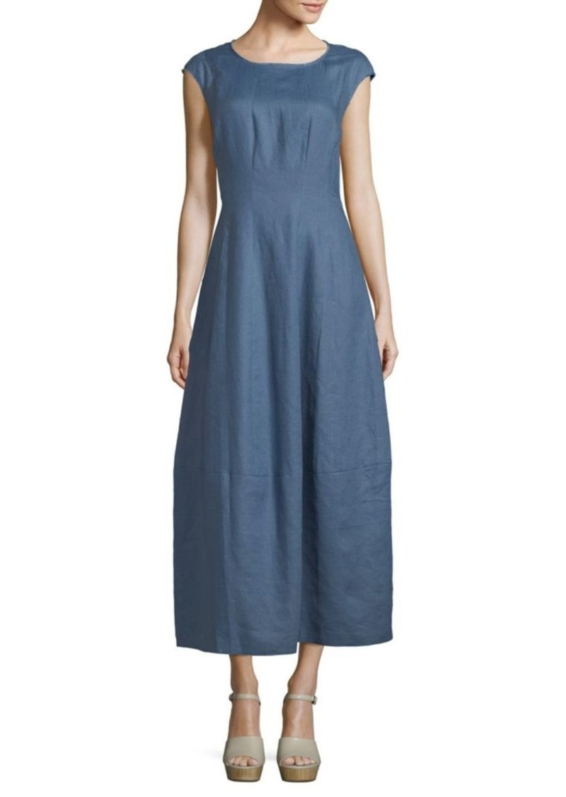 Lafayette 148 Linen Midi Dress