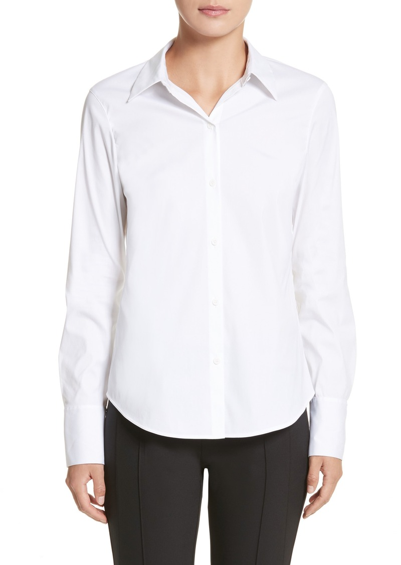 Lafayette 148 New York Linley Stretch Cotton Blouse