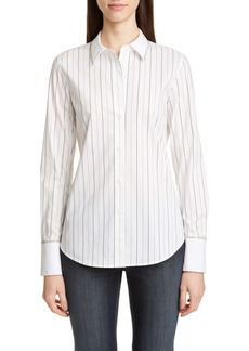 Lafayette 148 New York Linley Sycamore Stripe Shirt