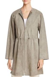 Lafayette 148 New York Linnea Suede Cinched-Waist Jacket