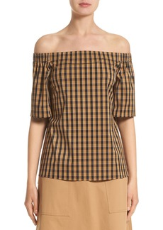 Lafayette 148 New York Livvy Neo Classic Check Blouse