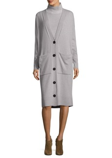 Lafayette 148 New York Long Buttoned Cardigan