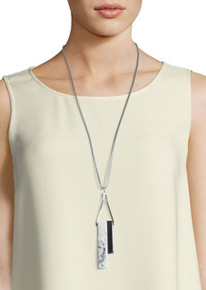 Lafayette 148 New York Long Double-Rectangle Necklace