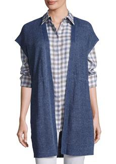 Lafayette 148 New York Long Mid-Weight Délavé Knit Vest