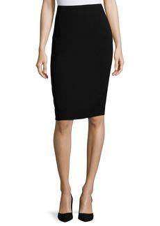 Lafayette 148 Finesse Crepe Slim Skirt