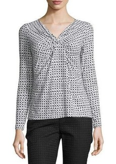 Lafayette 148 New York Long-Sleeve Gathered-Front Top