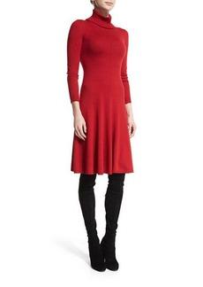 Lafayette 148 New York Long-Sleeve Merino Turtleneck Dress