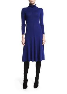 Lafayette 148 Long-Sleeve Merino Turtleneck Dress