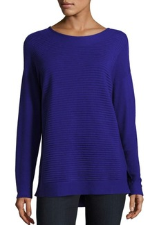 Lafayette 148 New York Long Sleeve Ribbed Top