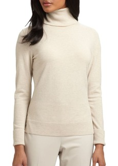 Lafayette 148 New York Long Sleeve Wool Turtleneck Sweater