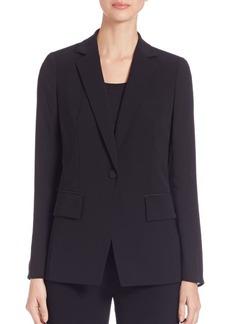 Lafayette 148 New York Lorelle Sheer Sleeve Tech Cloth Jacket