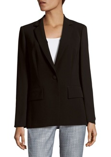 Lafayette 148 Lorelle Sheer Sleeve Tech Cloth Jacket