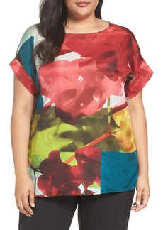 Lafayette 148 New York Lori Print Silk Blouse (Plus Size)